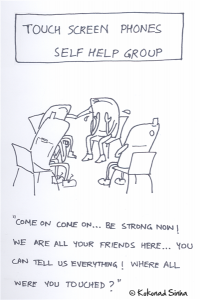 Touchscreen phones self help group
