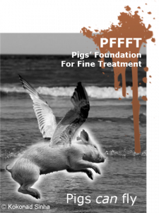 Pigs can fly poster